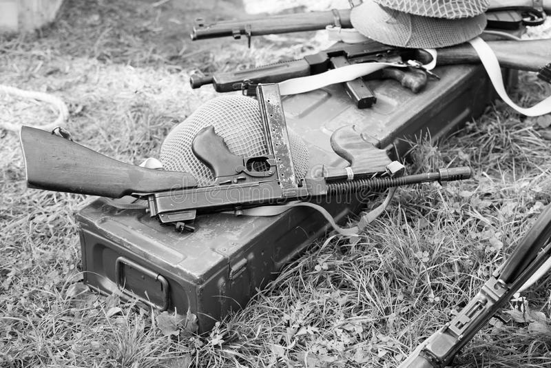 Submachine Thompson πυροβόλο όπλο στοκ εικόνα
