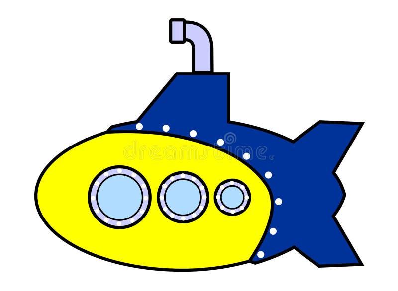Download Submarine stock illustration. Image of yellow, under, bathyscaphe - 6029218