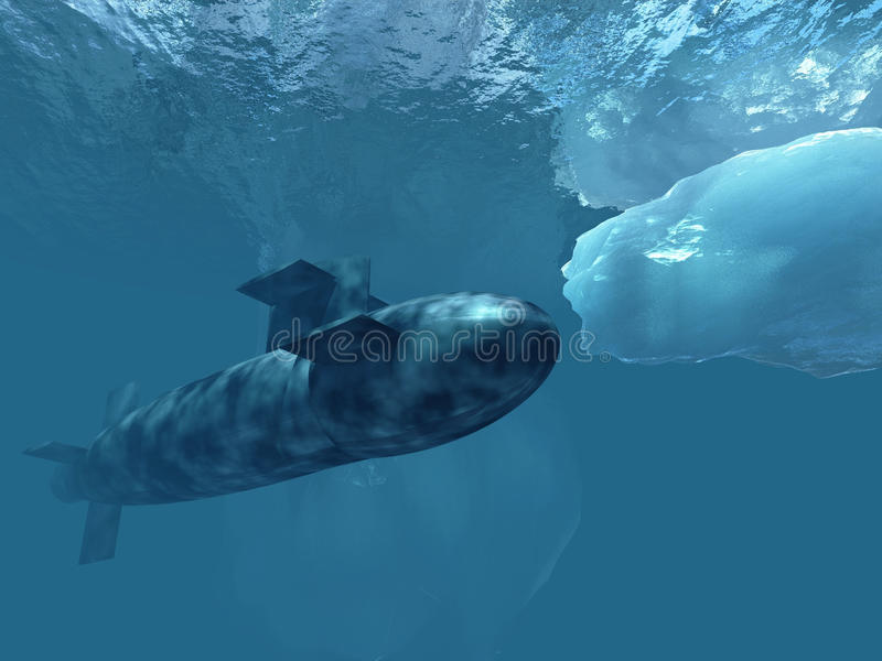 Download Submarine Beneath Polar Ice Stock Photo - Image: 11262890