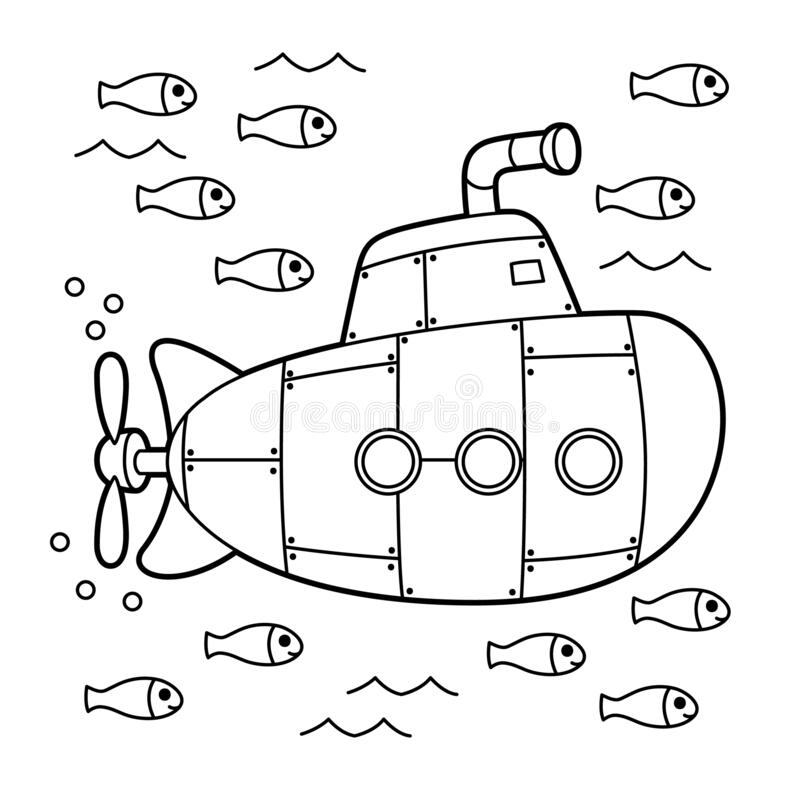 Submarine Coloring Page Stock Illustrations – 164 Submarine Coloring Page  Stock Illustrations, Vectors & Clipart - Dreamstime
