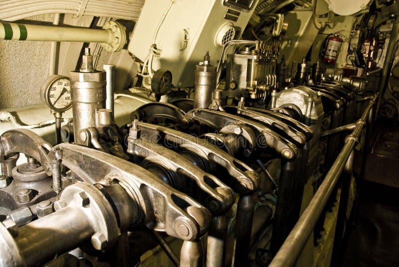 Submarine engine stock photo