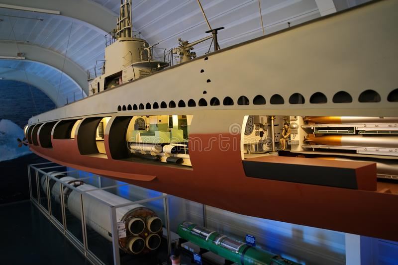 Visiting The Submarine Force Museum In Groton CT USA royalty free stock image
