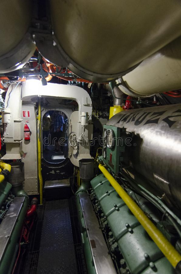 Uss Drum Engine Room: Inside A Submarine Editorial Stock Photo. Image Of