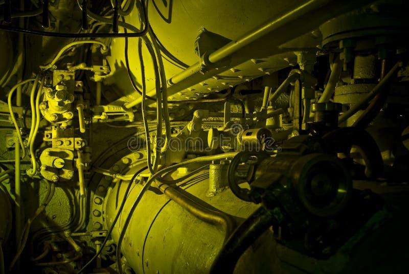 Submarine machinery stock photo