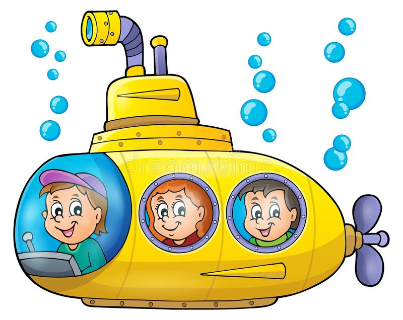 submarine theme image 1 stock vector illustration of bubbles 52049945 rh dreamstime com submarine clipart free submarine clipart png