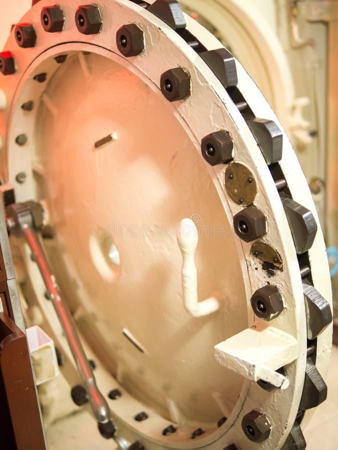 Submarine watertight door stock photo. Image of vessel ...
