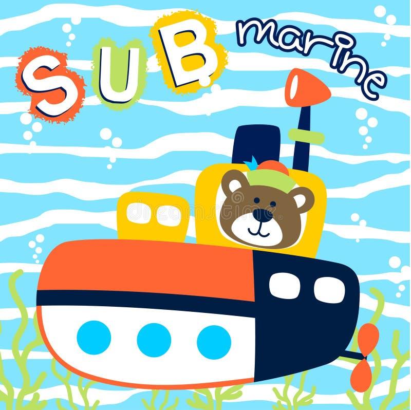 submarino ilustração do vetor