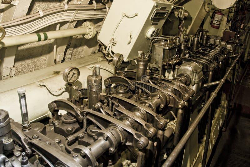 Submarino adentro foto de archivo