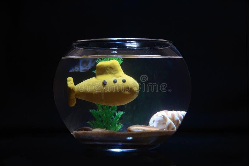 Download Submarino amarillo imagen de archivo. Imagen de arena - 7282001