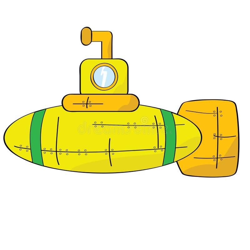 Submarino amarillo libre illustration