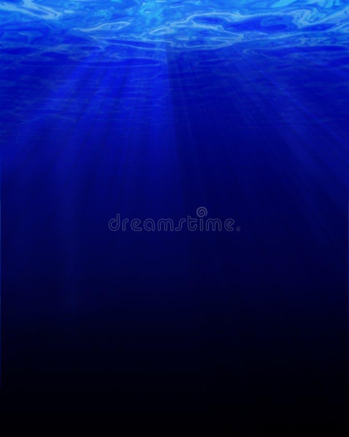 Submarino azul profundo stock de ilustración