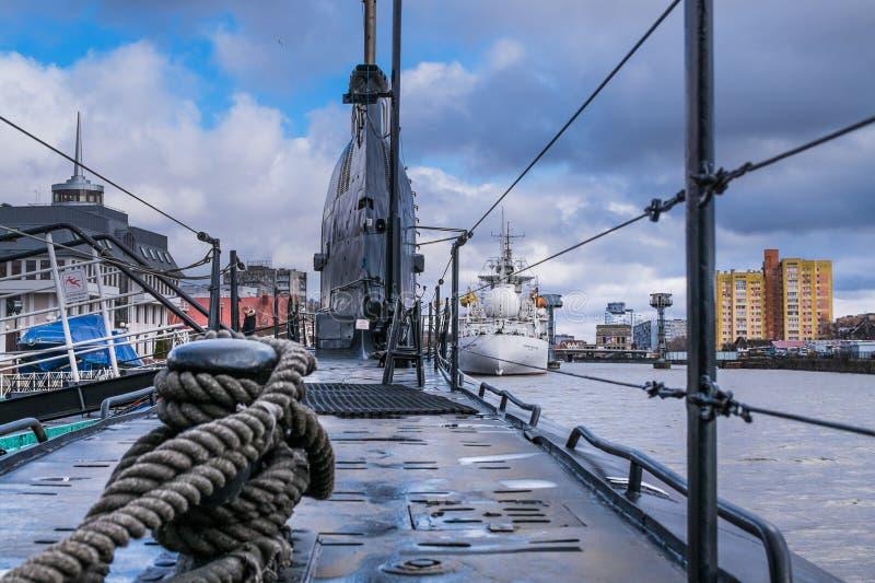 Submarino de Báltico do russo fotografia de stock royalty free