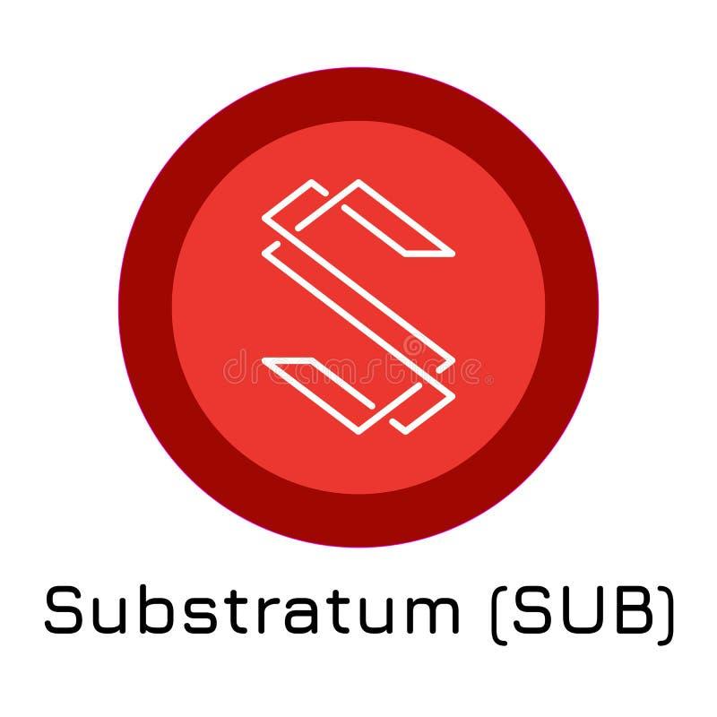 SUBMARINO del substrato Moneda crypto del ejemplo del vector libre illustration