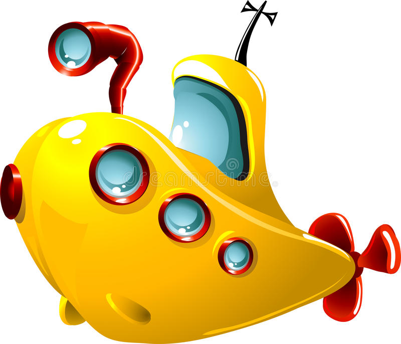 Submarino dos desenhos animados imagem de stock royalty free