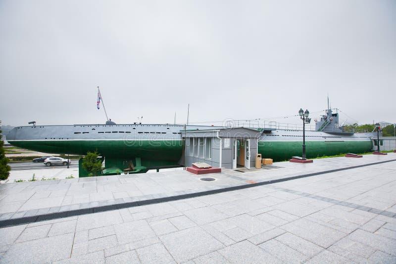 Submarino histórico das forças armadas do russo fotografia de stock royalty free
