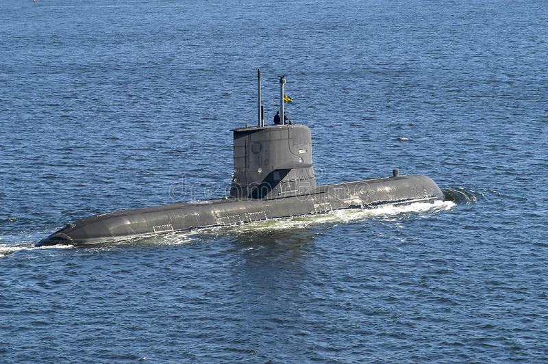 Submarino HMS Västergötland foto de stock