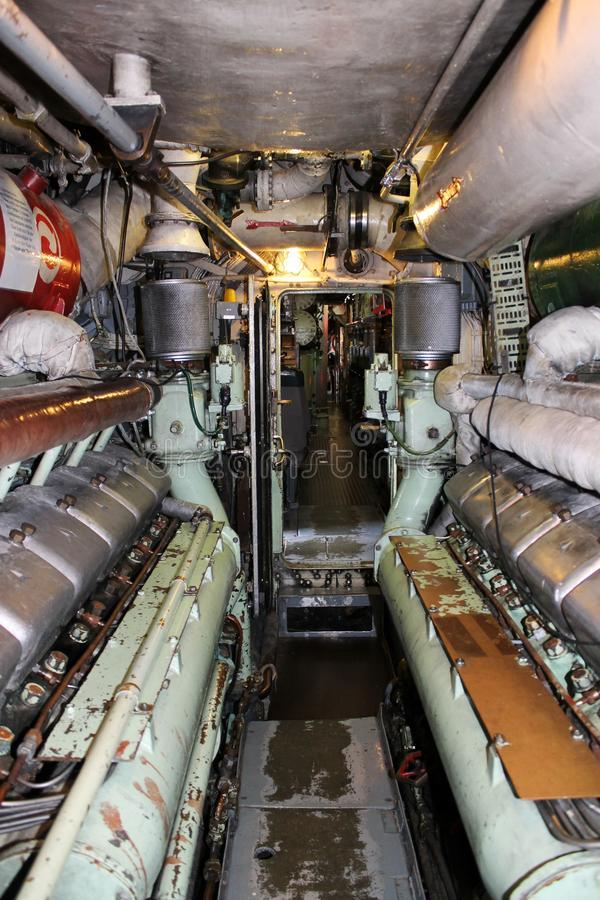 Submarino interior u 11 imagen de archivo imagen de for Interior submarino