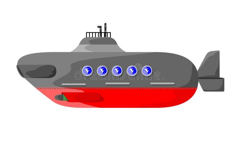 Submarino militar stock de ilustración