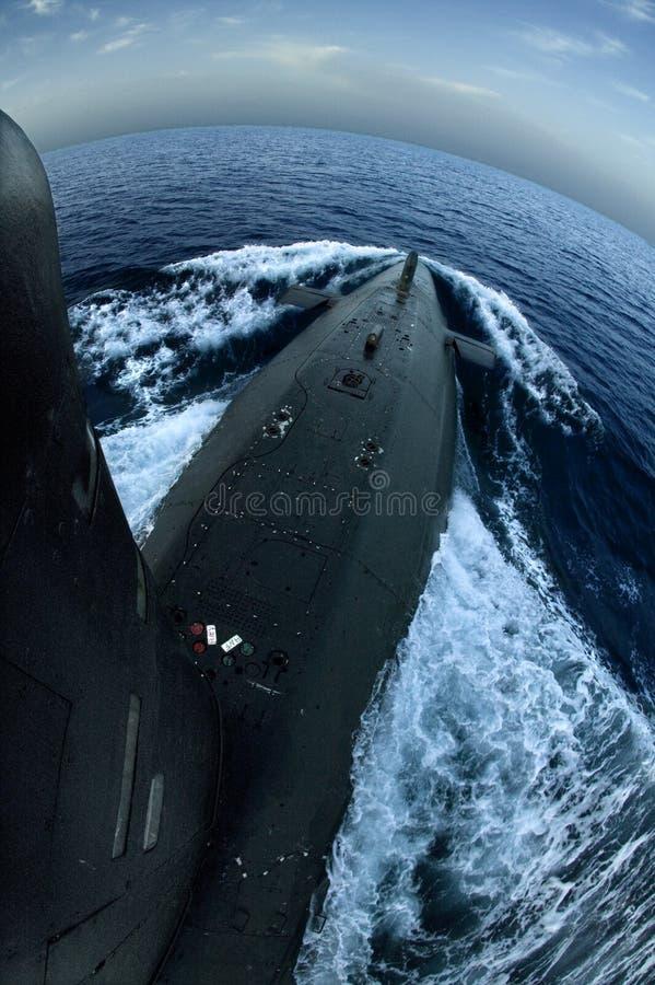 Submarino na superfície imagem de stock royalty free