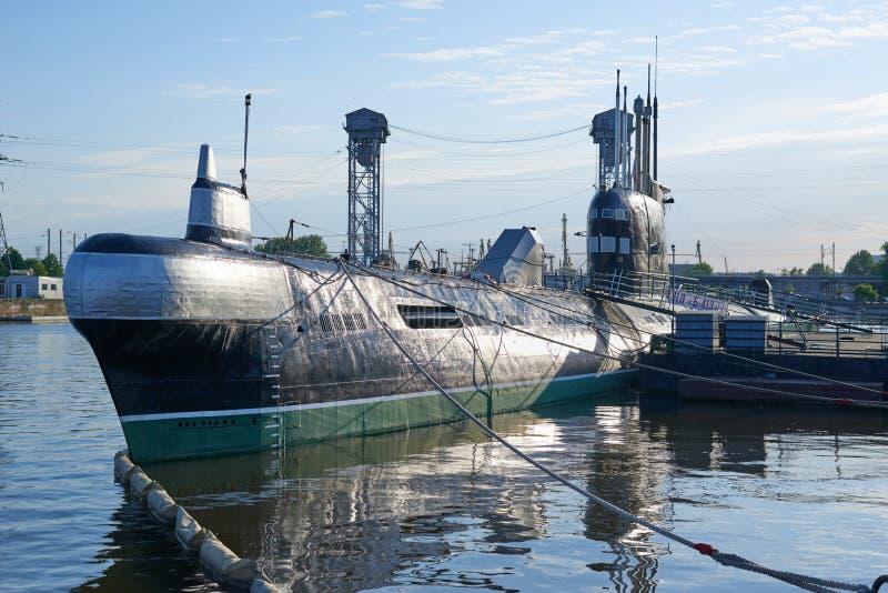 Submarino soviético B-413 Kaliningrad foto de stock royalty free