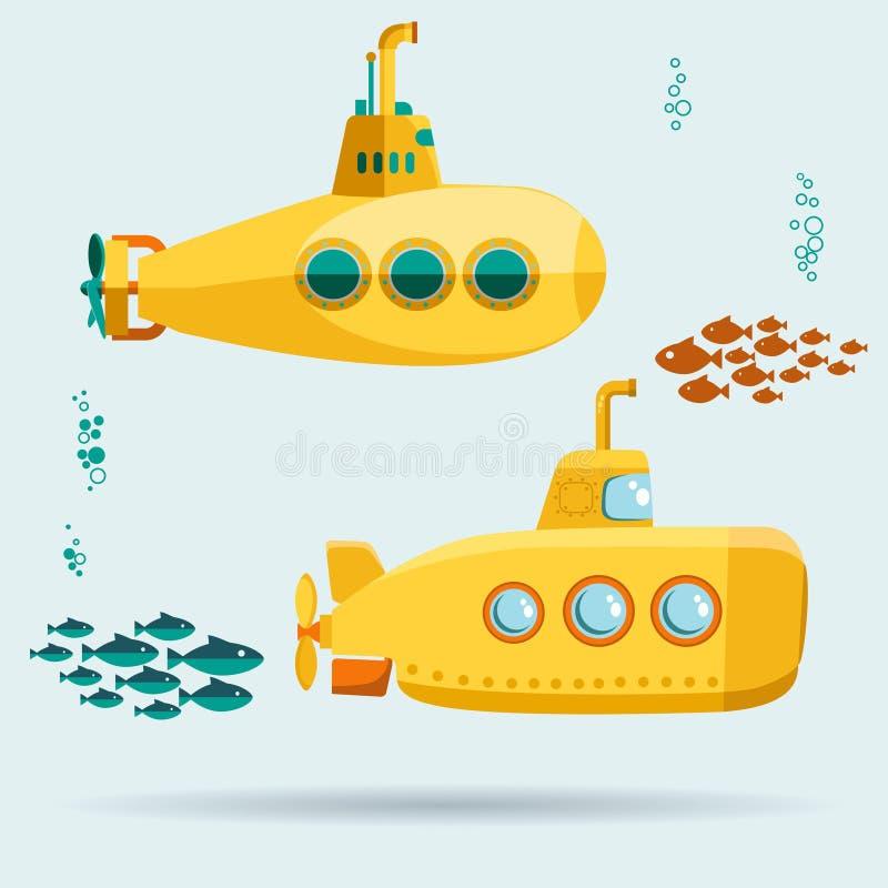 Submarino submarino amarillo libre illustration