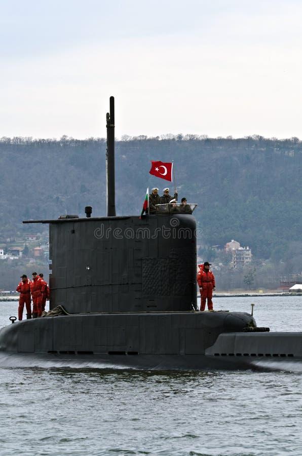 Submarino turco DOLUNAY (S-352) fotos de archivo libres de regalías