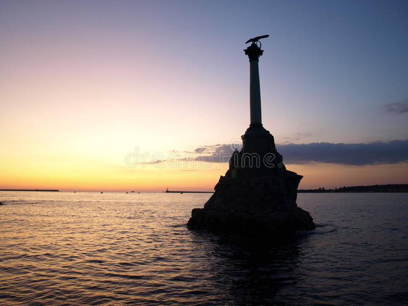 Submerged Ships Monument stock images