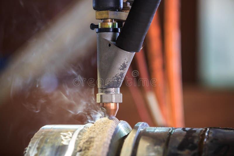 Submergez le procédé de soudure à l'arc électrique pour l'apprêtage dur photo libre de droits