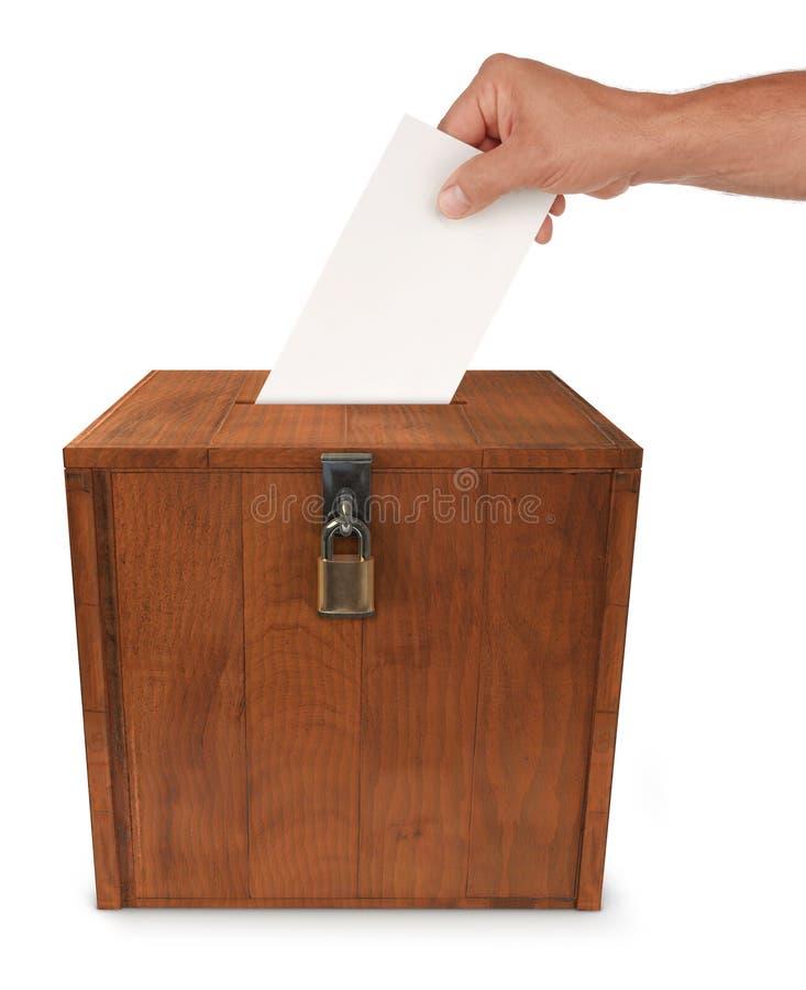 Submetendo um voto fotografia de stock royalty free