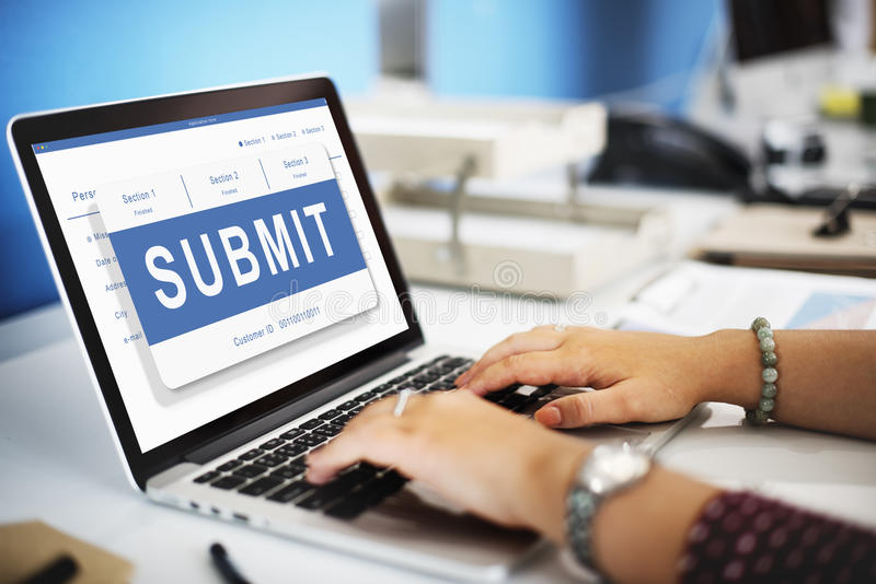 Submit Application Membership Register Send Concept royalty free stock image