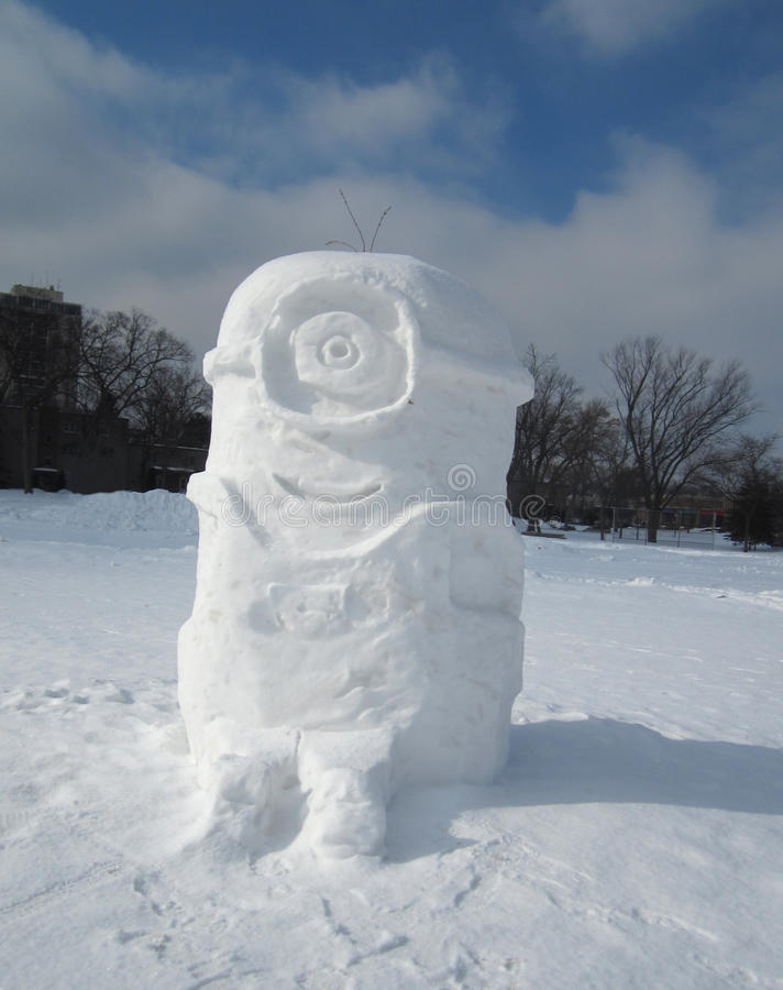 Subordonné fait en neige photographie stock