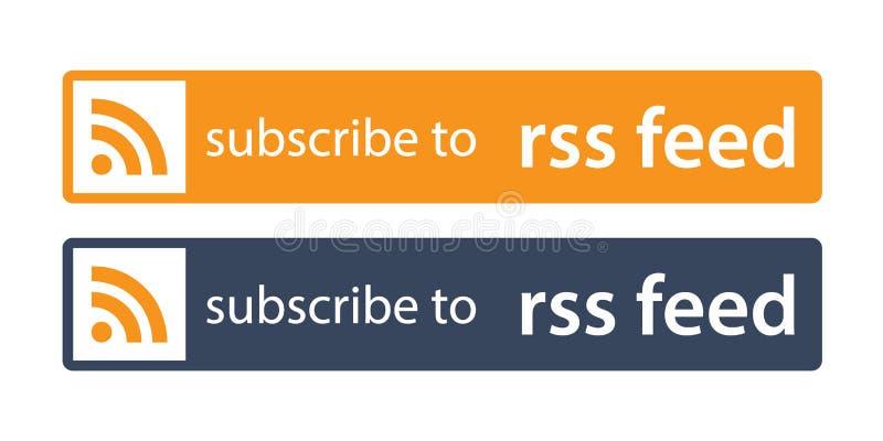 Subscreva à alimentação dos rss ilustração do vetor