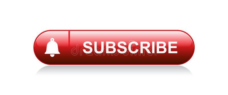Subscreva agora o botão de sino ilustração royalty free