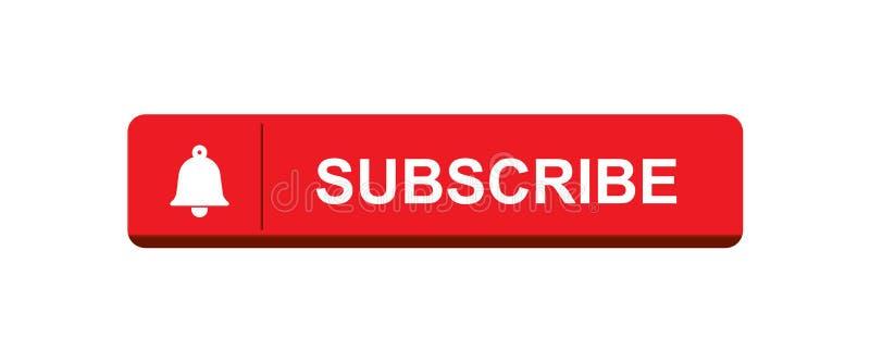 Subscreva agora o botão de sino ilustração do vetor