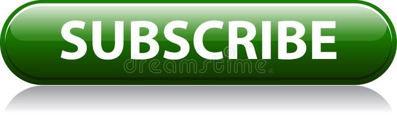 Subscreva o botão verde ilustração do vetor