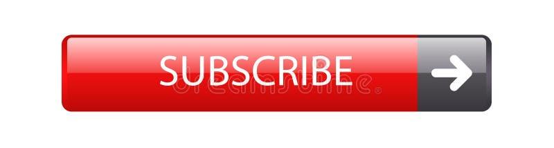 Subscreva a tecla do Web ilustração royalty free