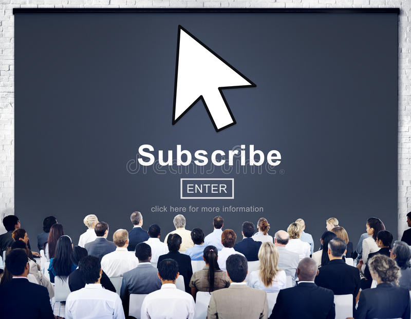 Subscribe Feed Register Homepage Network Concept stock image