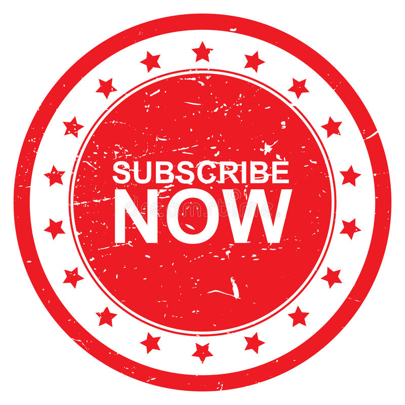 Subscribe now button vector illustration