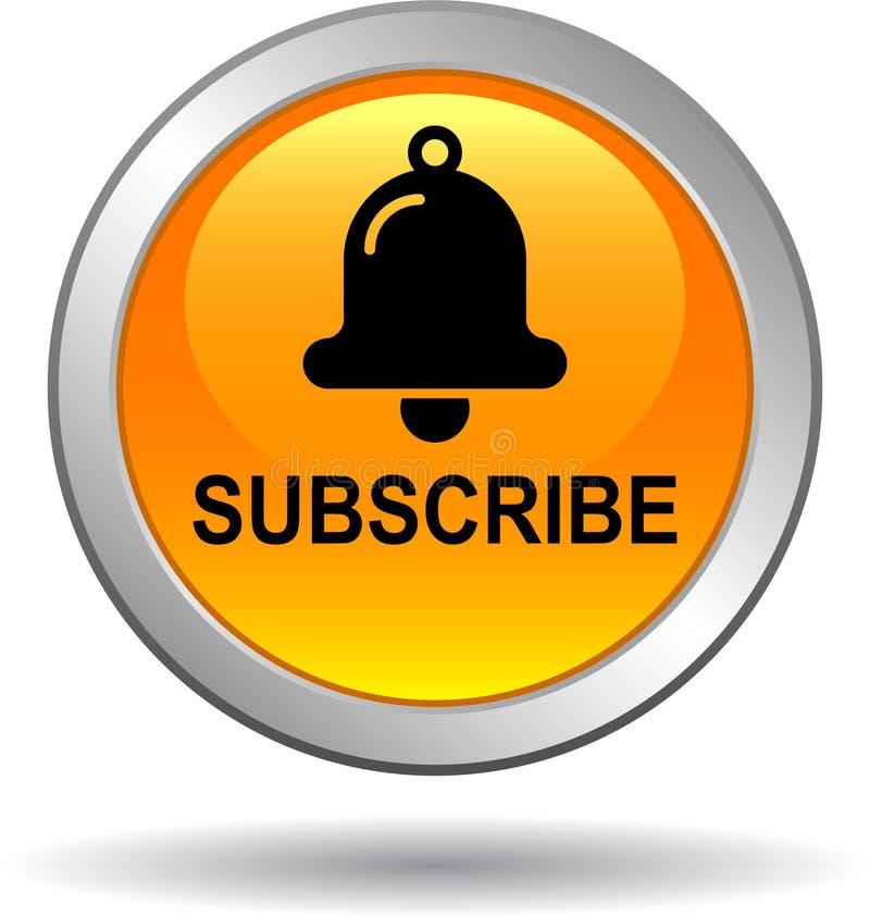 Free Subscribe Now Icon Web Button Orange Royalty Free Stock Photos - 118123728