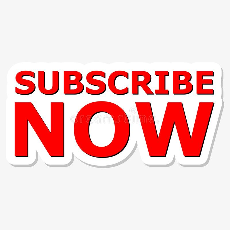 Subscribe now red sign royalty free illustration