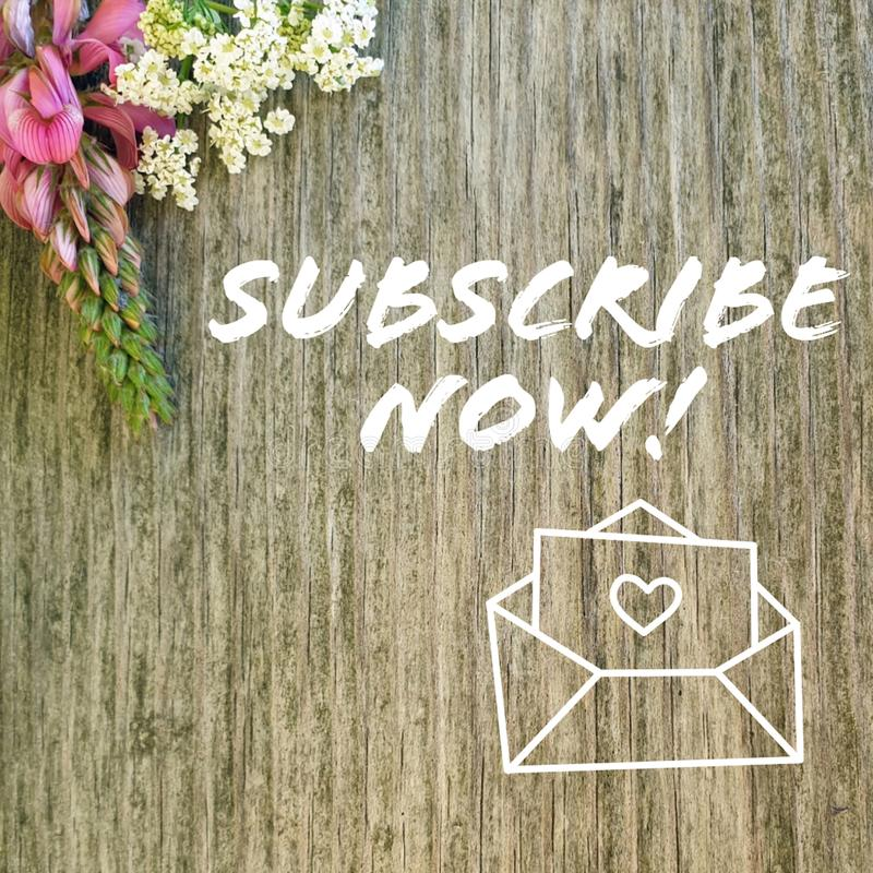 Subscribe now registration for news. And videos stock images