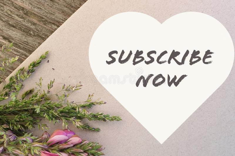 Subscribe now royalty free stock photography