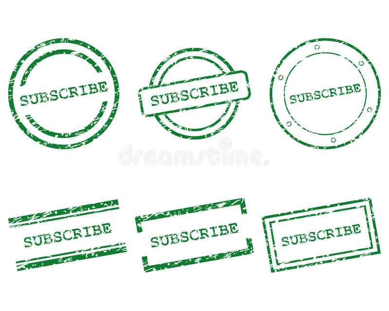Subscribe stamps stock illustration