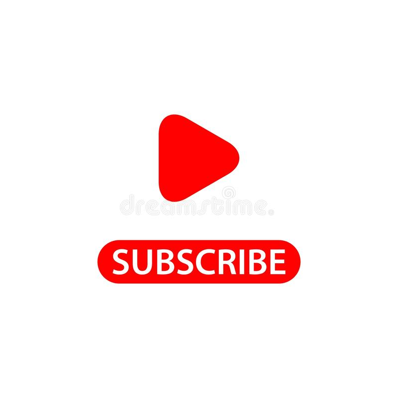 Subscribe Vector Template Design Illustration. Subscribe, newsletter, button, illustration, vector, youtube, design, email, icon, flat, background, mailbox stock illustration