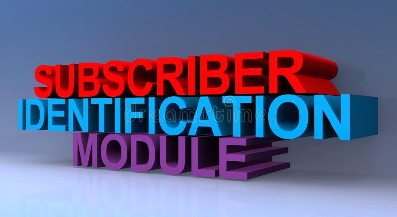 Subscriber identification module. On blue royalty free illustration