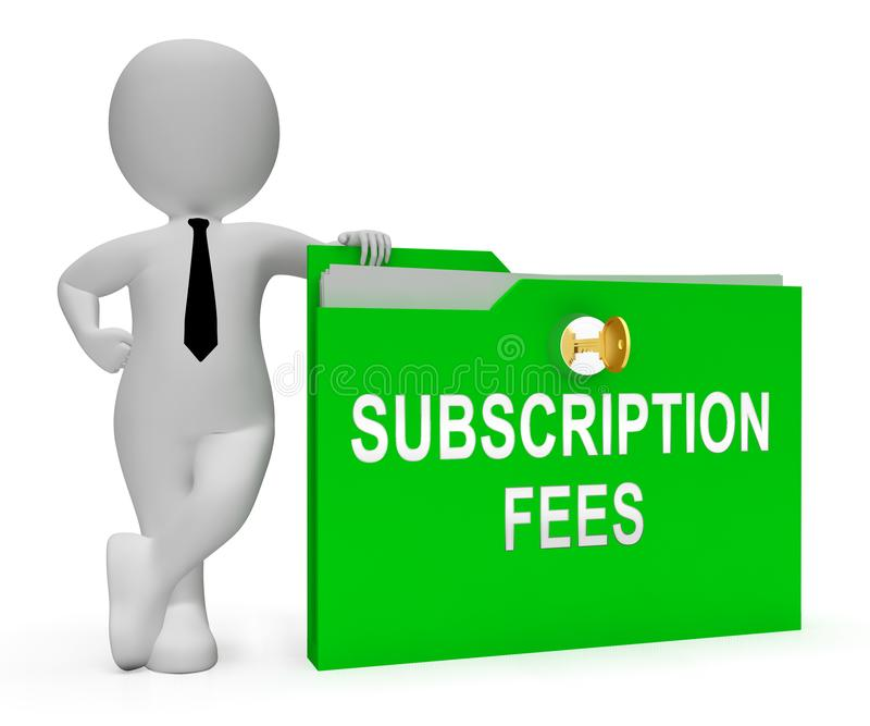 Subscription Fee Plan Registration Price 3d Rendering
