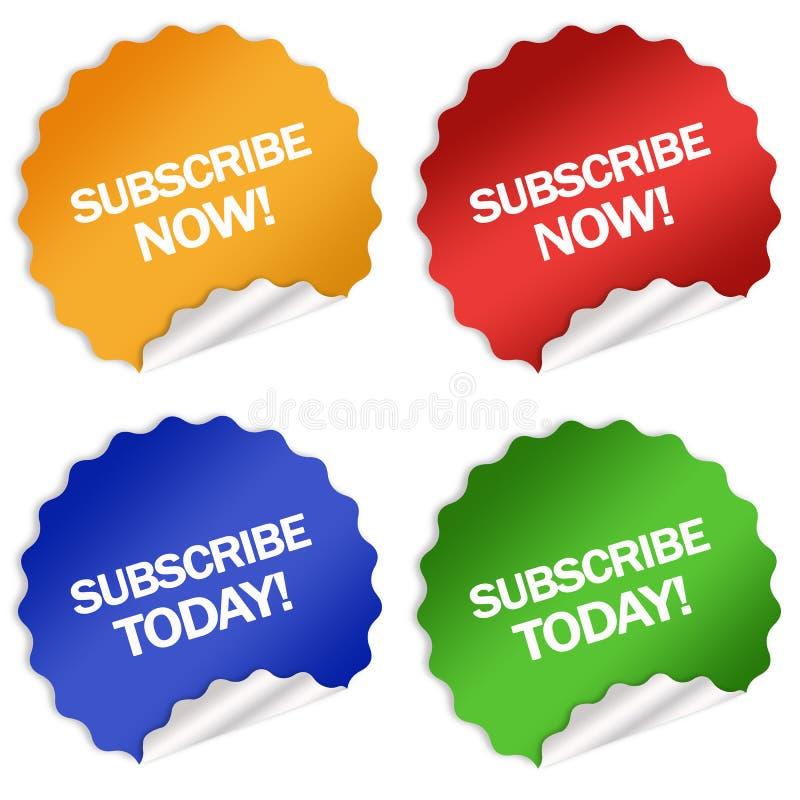 Subscription stickers stock illustration