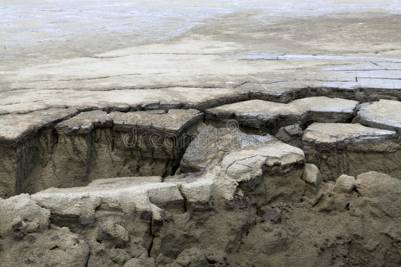 Subsidence ground in the wild royalty free stock photo