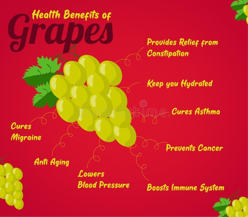 Subsidios por enfermedad de uvas Fruta fresca Comida sana a comer fotografía de archivo