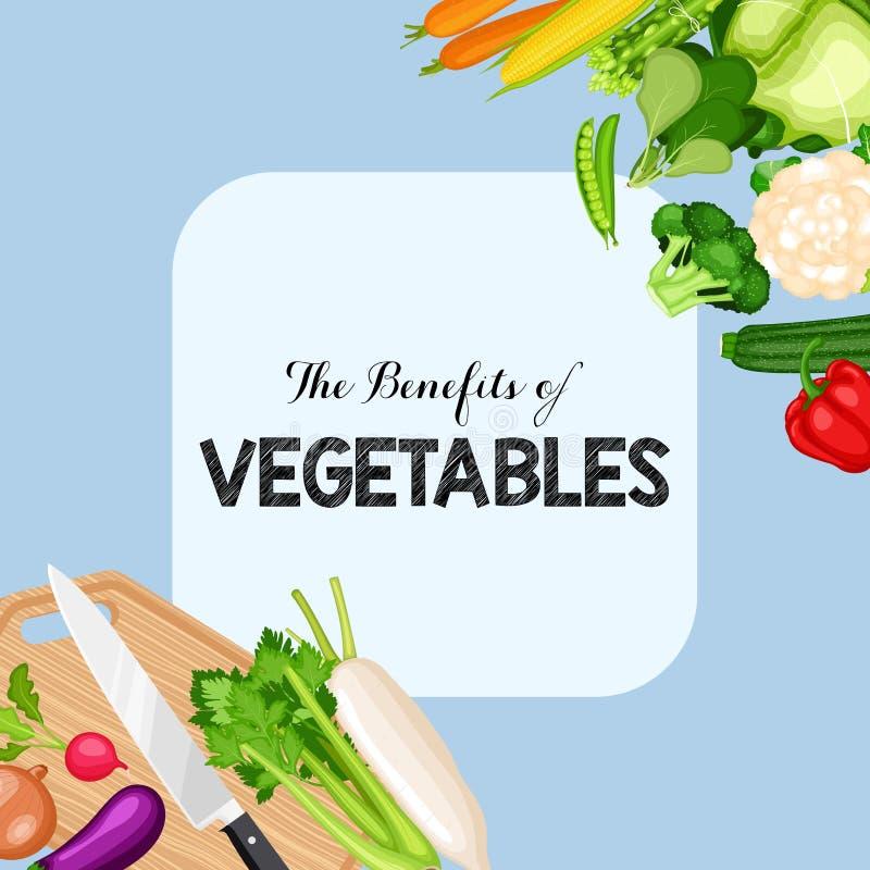 Subsidios por enfermedad de verduras stock de ilustración